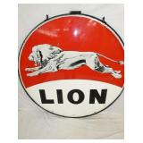 5FT. PORC.LION SIGN W/ RING