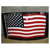 57X124 PORC. AMERICAN FLAG SYLO SIGN