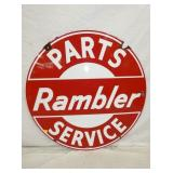 42IN PORC. RAMBLER PARTS SERVICE SIGN
