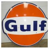 6FT. GULF DOG EAR PORC. SIGN