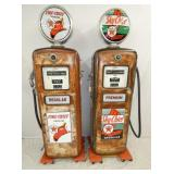 2 GILBARCO 906 TEXACO  GAS PUMPS