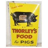 20X30 PORC. THORLEYS PIGS FOOD SIGN