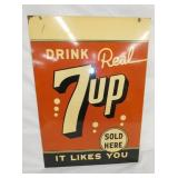 20X28 DRINK 7UP SOLD HERE SIGN