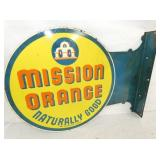 13X18 MISSION ORANGE FLANGE SIGN