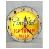 VIEW 2 CLOSEUP PINSTATE ICE CREAM CLOCK