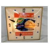 16IN BREYERS ICE CREAM PAM CLOCK