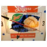 VIEW 2 CLOSEUP BREYERS ICE CREAM CLOCK