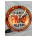 15IN FRAM FILTERS DOUBLE BUBBLE CLOCK