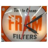 VIEW 2 CLOSEUP FRAM FILTERS DOUBLE BUBBLE CLOCK