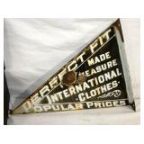 VIEW 2 15X22 PORC. INTERNATIONAL CLOTHES FLANGE SIGN