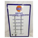32X50 PORC. GULF GULFLEX REGISTER LUBRICATION SIGN