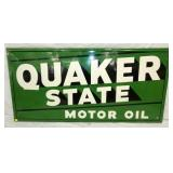 34X70 1947 OLD STOCK EMB. QUAKER STATE OIL SIGN