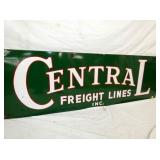 VIEW 2 CLOSEUP CENTRAL FREIGHT LINES PORC. SIGN