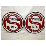 VIEW 2 OTHERSIDE PORC. STANDARD OIL SIGNS