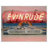 12X22 RARE EVINRUDE NEON DEALER SIGN