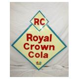 51X54 OLD STOCK ROYAL CROWN COLA DIAMOND SIGN