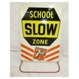 26X33 7UP SCHOOL ZONE SIDEWALK SIGN