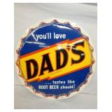 30IN DADS ROOTBEER CAP SIGN