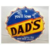 VIEW 2 CLOSEUP DADS BOTTLE CAP SIGN