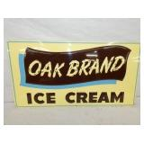 15X28 1958 OLD STOCK EMB. OAK BRAND ICE CREAM