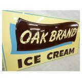 VIEW 2 CLOSEUP EMB. OAK BRAND ICE CREAM SIGN