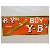 12X28 OLD STOCK EMB. BY AND YB SIGN