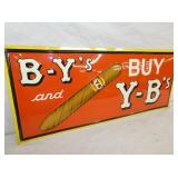 VIEW 2 EMB. OLD STOCK BY/YB CIGAR SIGN