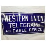 12X24 PORC. WESTERN UNION FLANGE SIGN