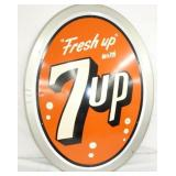 31X38 1957 BUBBLE EMB. 7UP SIGN