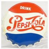 36IN 1965 EMB. PEPSI CAP SIGN