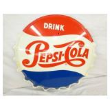 VIEW 2 CLOSEUP 1965 PEPSI CAP SIGN