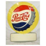 41X55 1959 EMB. PEPSI COLA CAP SIGN