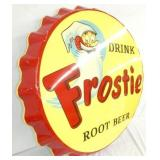 VIEW 3 LEFTSIDE FROSTIE ROOTBEER CAP SIGN