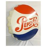 VIEW 2 LEFTSIDE 36IN PEPSI CAP SIGN