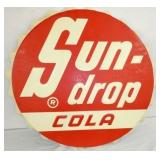 36IN EMB. SUNDROP COLA CAP SIGN