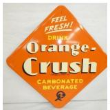 16IN OLD STOCK ORANGE CRUSH DIAMOND SIGN