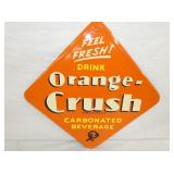 VIEW 2 CLOSEUP ORANGE CRUSH SIGN