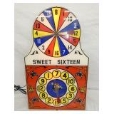13X21 LIGHTED SWEET SIXTEEN WHEEL