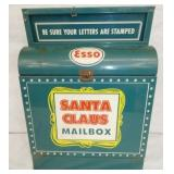 RARE 13X17 ESSO SANTA CLAUSE MAIL BOX