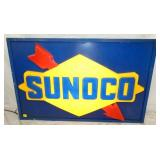 28X45 EMB. SUNOCO LIGHTED SIGN
