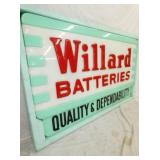 VIEW 2 CLOSEUP EMB. WILLARD BATTERIES SIGN