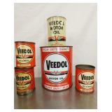 VEEDOL MOTOR OIL, GREESE CANS