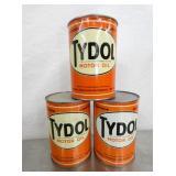 TYDOL MOTOR OIL CANS