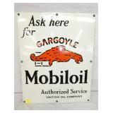 19 1/2X24 PORC. GARGOYLE MOBILOIL SIGN