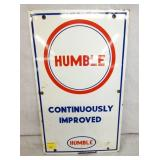 11X18 PORC. HUMBLE PUMP SIGN
