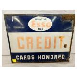 14X18 PORC. ESSO CREDIT CARDS SIGN