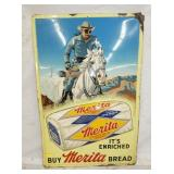 1955 24X36 EMB. LONG RANGER MERITA BREAD SIGN