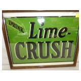 14X19 NOS EMB. LIME CRUSH SIGN
