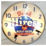14IN HIRES ROOTBEER PAM CLOCK
