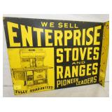 14X18 ENTERPRISE STOVES DEALER FLANGE SIGN